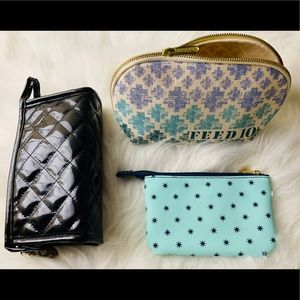 Handbags - Cosmetic Bag Bundle 3 for only $15